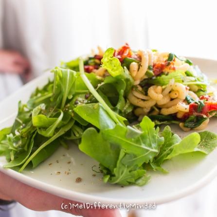 Rocket-Noodle-Sun-dried Tomato-Salad