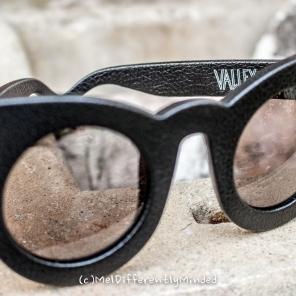 Valley Eyewear Black Leather Wolves