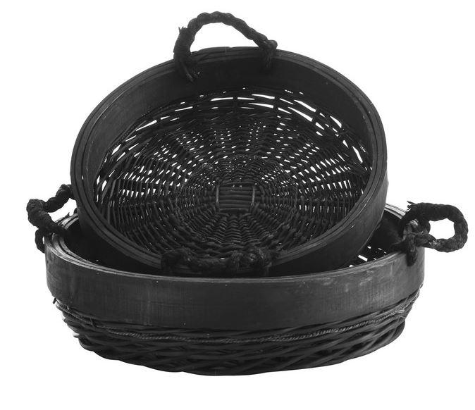 Brotkorb Set Basket, 2 tlg., schwarz